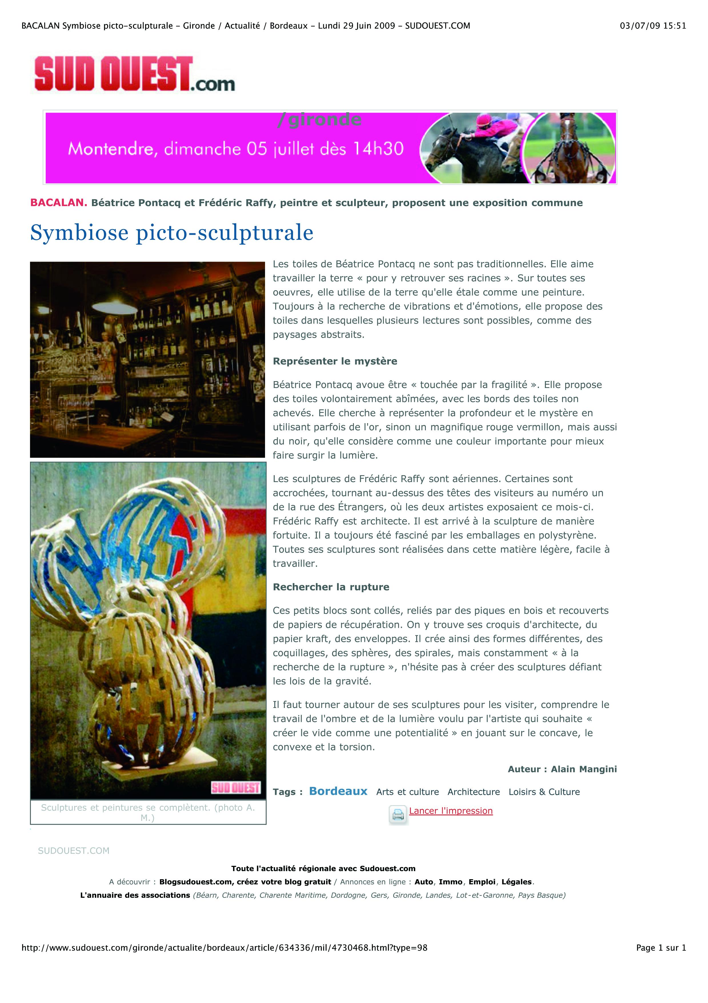 article sculpture